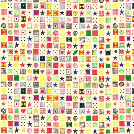 teenie baby star mosaic fabric by scrummy on Spoonflower - custom fabric