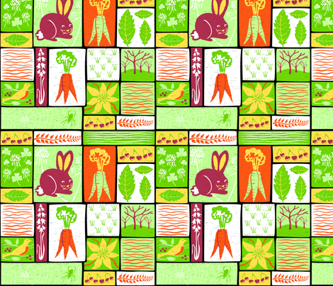 Garden Grid 5 fabric by vinpauld on Spoonflower - custom fabric