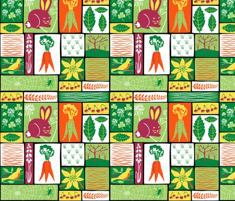 Garden Grid 5A fabric by vinpauld on Spoonflower - custom fabric
