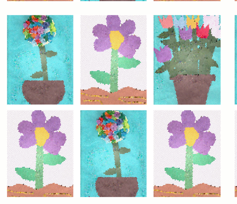 Mothers Day Flowers fabric by bellewithbeau on Spoonflower - custom fabric