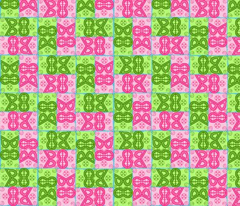 Tiki_Zig_Zag fabric by eclectic_mermaid on Spoonflower - custom fabric