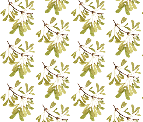 Winged Maple Seeds fabric by gollybard on Spoonflower - custom fabric