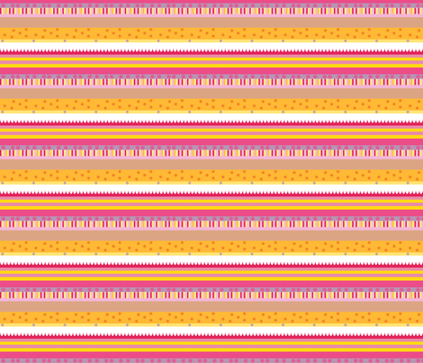 Daisy Stripes fabric by upcyclepatch on Spoonflower - custom fabric