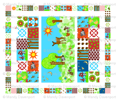 Forest Friends Cheater Quilt