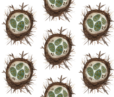 Bird Nests fabric by gollybard on Spoonflower - custom fabric