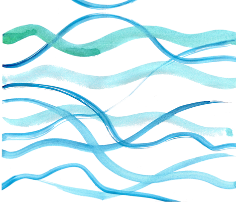 C'EST LA VIV™ Summer Breeze collection_Blue Seas fabric by cest_la_viv on Spoonflower - custom fabric