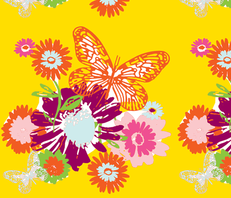 Butterfly Garden fabric by evtorrezart on Spoonflower - custom fabric