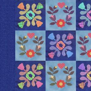 Blue Fields of Flowers