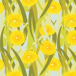 Lawn Posies - Dandelions - Blue