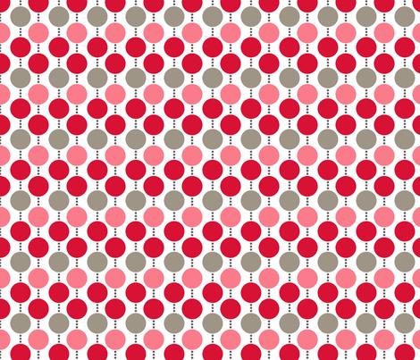 Beaded Dot Red fabric by melaniesullivan on Spoonflower - custom fabric