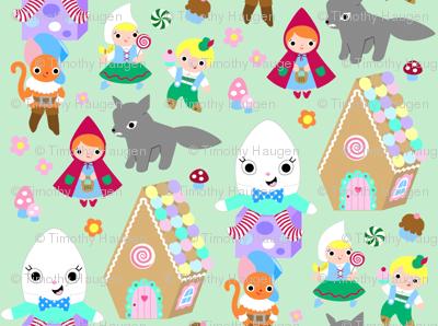 Kawaii Storybook Fabric