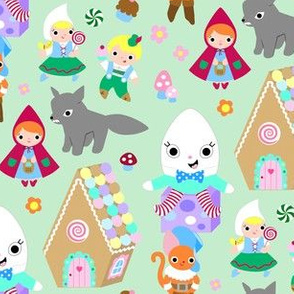 Kawaii Storybook Fabric