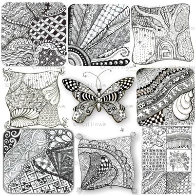 Zentangle Fabric 1