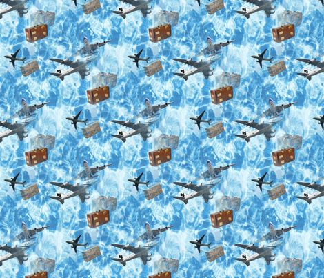 planes_and_luggageseamless fabric by farrellart on Spoonflower - custom fabric