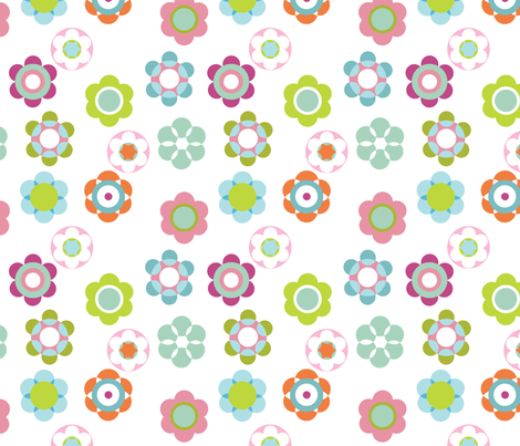 Bloom fabric by flowerpress on Spoonflower - custom fabric