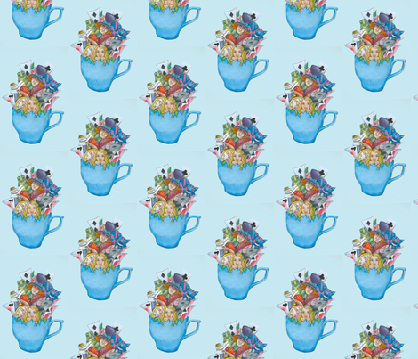 We're All Mad Here! fabric by little_loui on Spoonflower - custom fabric