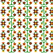 Flowers orange on white