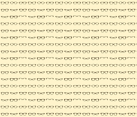 Retro Glasses Frames small fabric by dorolimited on Spoonflower - custom fabric