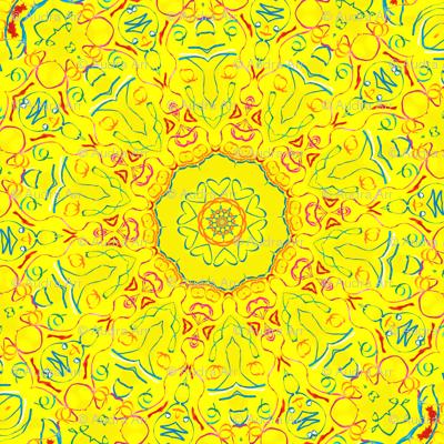 Yellow There Kaleidescope 2