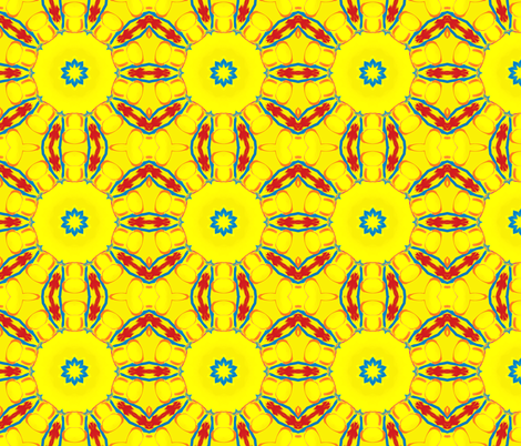 Yellow There Kaleidescope 3 fabric by audarrt on Spoonflower - custom fabric