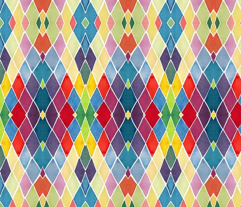 C'EST LA VIV™ ARGYLE & DIAMOND Collection_DIAMONDS  fabric by cest_la_viv on Spoonflower - custom fabric