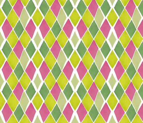 C'EST LA VIV™ ARGYLE & DIAMOND Collection_PINK DIAMONDS fabric by cest_la_viv on Spoonflower - custom fabric
