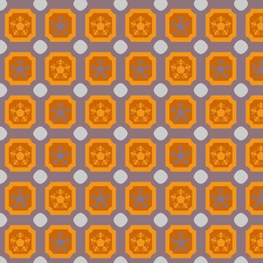 Oil cloth _ dusk _ tiles