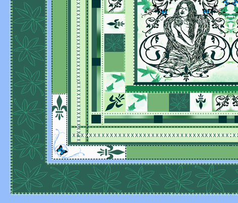 Cheater quilt- Grieving Mothers Garden's fabric by paragonstudios on Spoonflower - custom fabric
