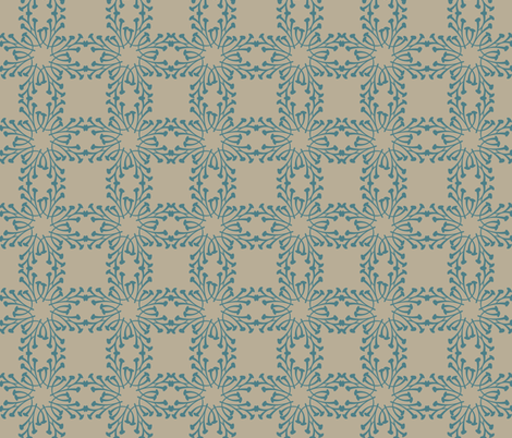 Squares in blue fabric by artbybaha on Spoonflower - custom fabric