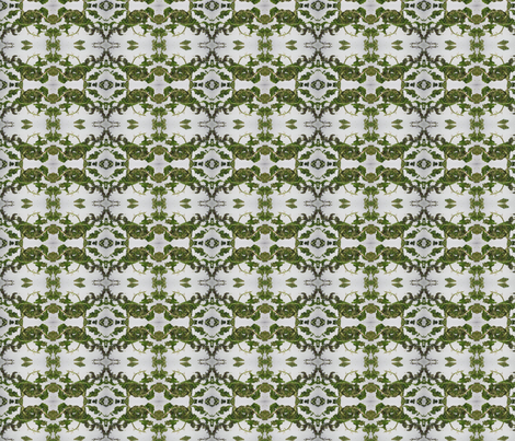 botanical mirror repeat fabric by maga2mars on Spoonflower - custom fabric