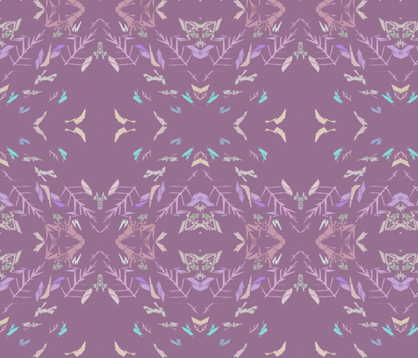 Lavender Feathers And Twigs fabric by patternbase on Spoonflower - custom fabric