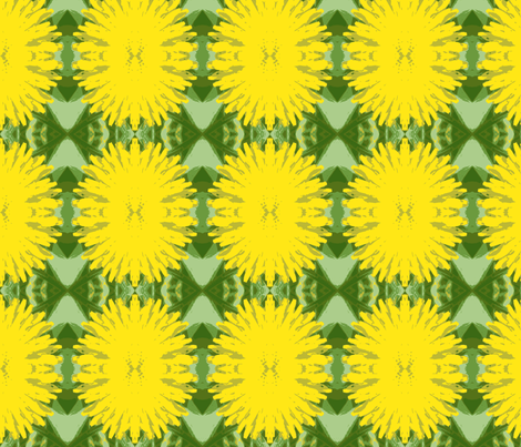 Yellow Dandilions fabric by frances_hollidayalford on Spoonflower - custom fabric
