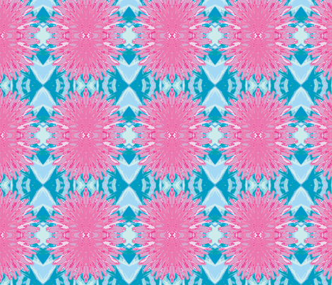 Pink Dandilions fabric by frances_hollidayalford on Spoonflower - custom fabric