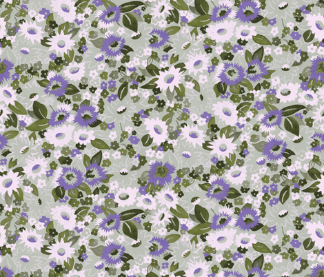 Daisies-olive fabric by ashland_house_designs on Spoonflower - custom fabric
