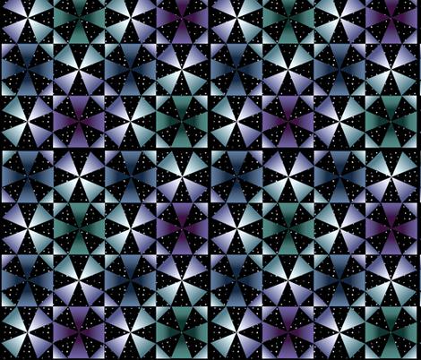 Kaleidoscope night sky-1 fabric by mina on Spoonflower - custom fabric