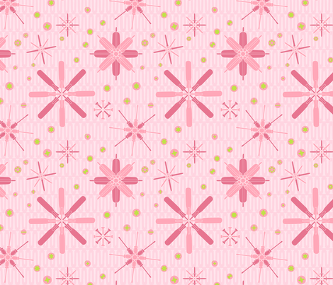 screwdriver garden pink fabric by linkolisa on Spoonflower - custom fabric