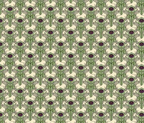 Unicorns & Flowers 2 fabric by lord-orlando on Spoonflower - custom fabric