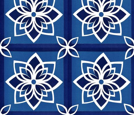 Star Cheater Quilt fabric by ericadeam on Spoonflower - custom fabric