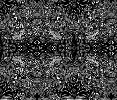 JamJax Black List fabric by jamjax on Spoonflower - custom fabric