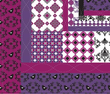 Purple Reign fabric by deesignor on Spoonflower - custom fabric