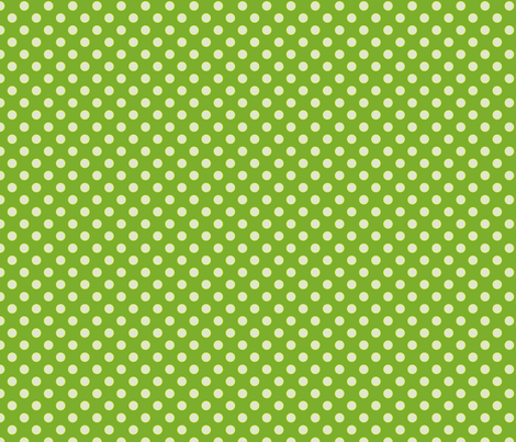 Chlorophyll-Green with Light Blue Dots fabric by anntuck on Spoonflower - custom fabric