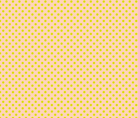 Pink with Green Dots fabric by anntuck on Spoonflower - custom fabric