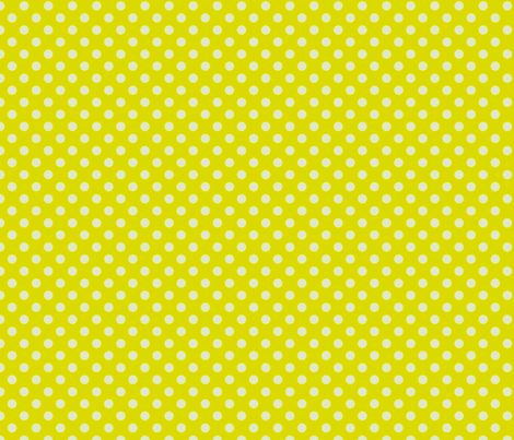 Yellow-Green with Light Blue Dots fabric by anntuck on Spoonflower - custom fabric