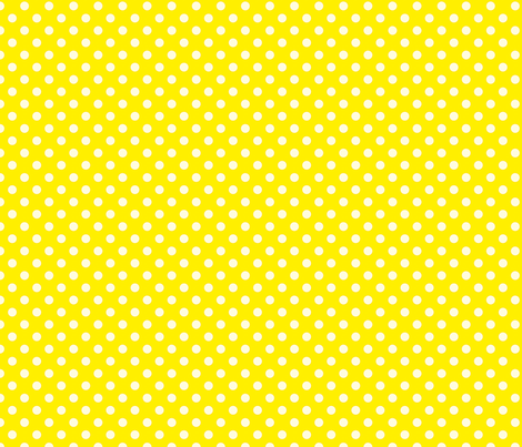 Yellow with White Dots fabric by anntuck on Spoonflower - custom fabric