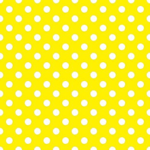 Yellow with White Dots