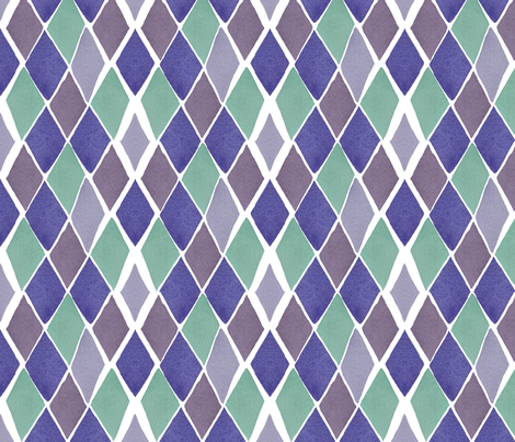 C'EST LA VIV™ ARGYLE & DIAMOND Collection_HOPE DIAMOND  fabric by cest_la_viv on Spoonflower - custom fabric