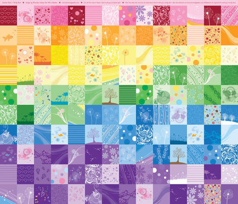 Rainbow Cheater Quilt and Twirly Skirt fabric by sew-me-a-garden on Spoonflower - custom fabric