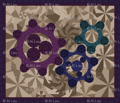 Variations on a Gear Quilt