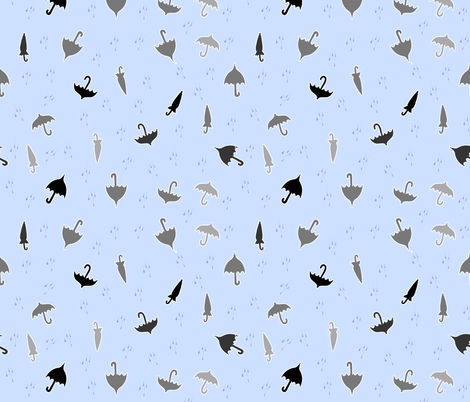 Rainy fabric by jadegordon on Spoonflower - custom fabric