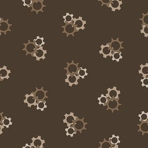 Gray Brown Gears - Small